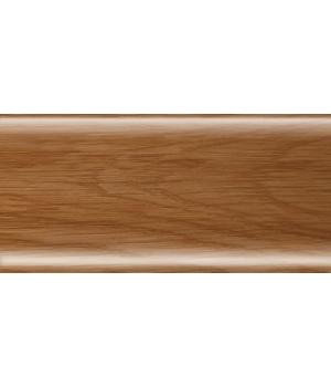 Плинтус RICO Leo № 124 Дуб янтарный (с кабель-каналом)